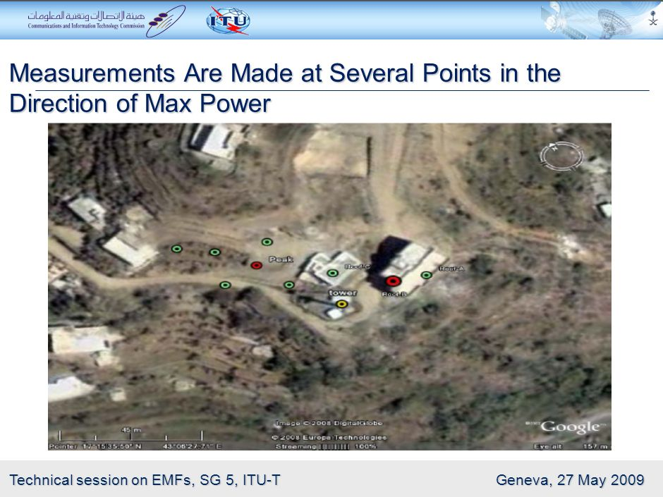 Measurements Are Made at Several Points in the Direction of Max Power