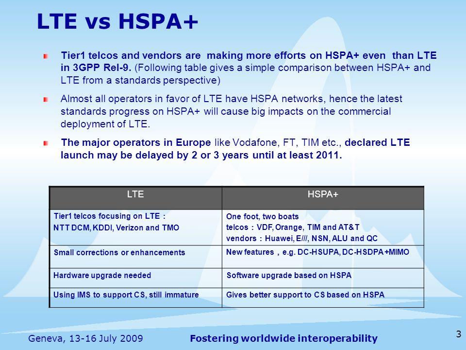LTE vs HSPA+