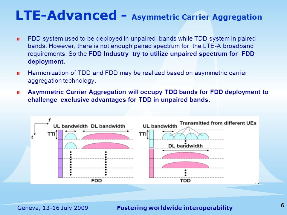 LTE-Advanced - Asymmetric Carrier Aggregation