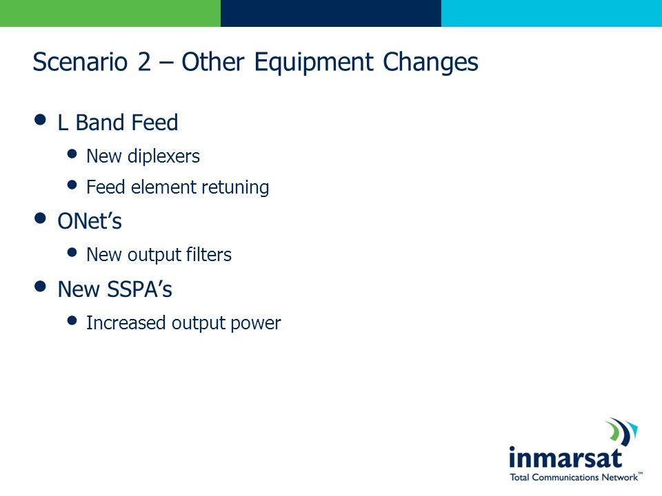 Scenario 2 – Other Equipment Changes