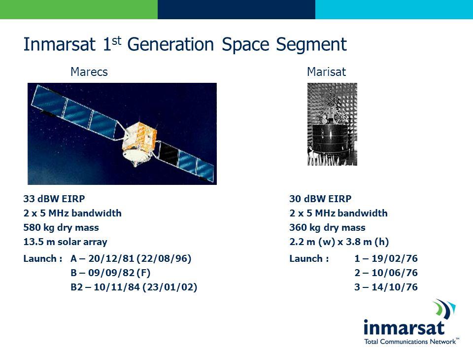 Inmarsat 1st Generation Space Segment