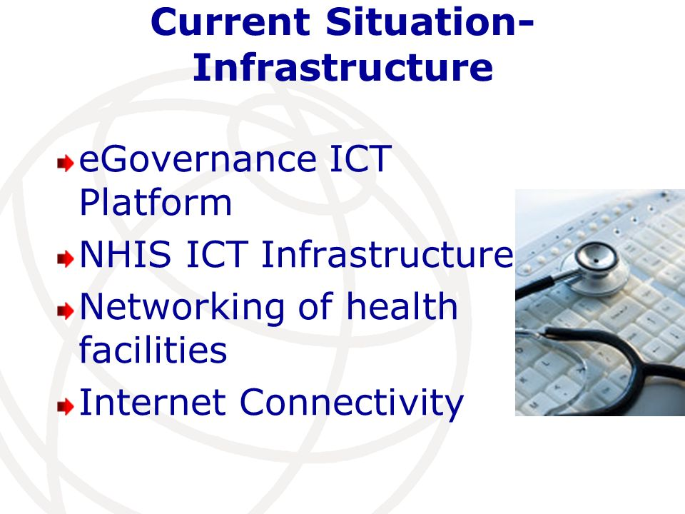 Current Situation-Infrastructure