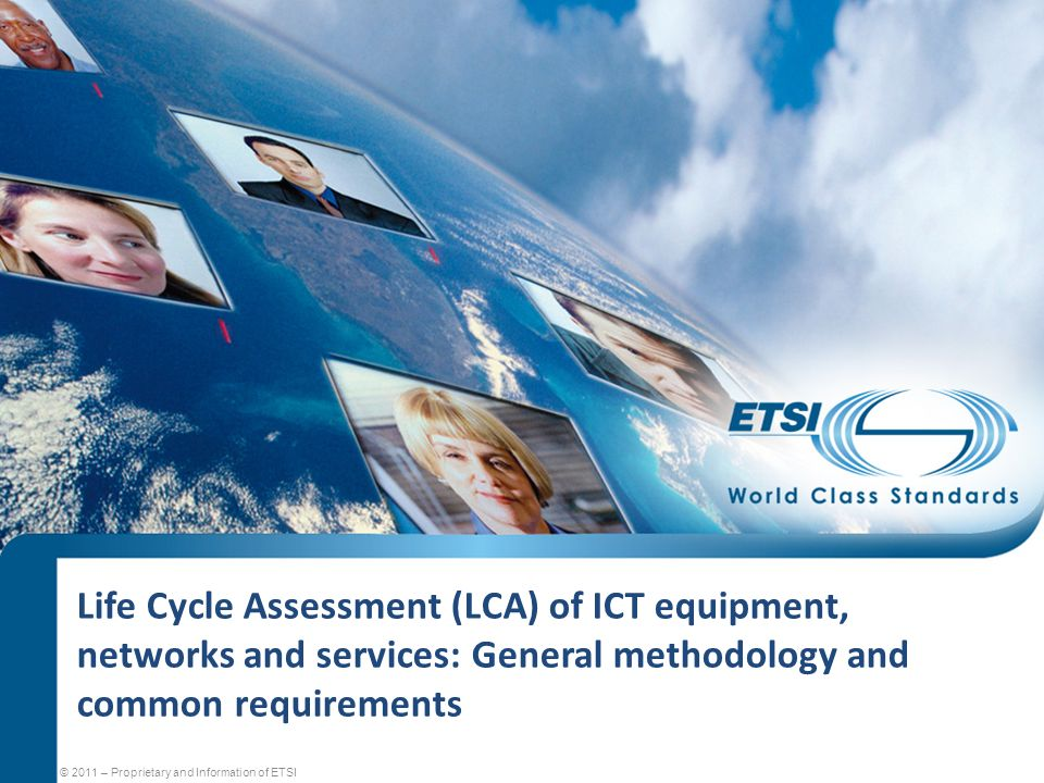 Life Cycle Assessment (LCA) of ICT equipment, networks and services: General methodology and common requirements
