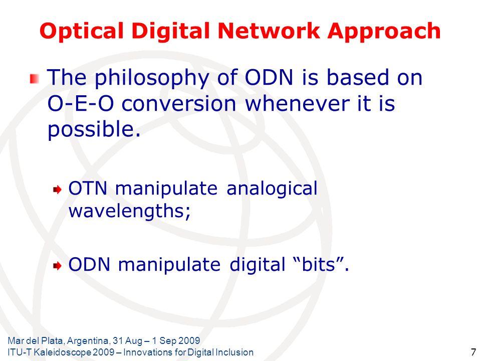Optical Digital Network Approach