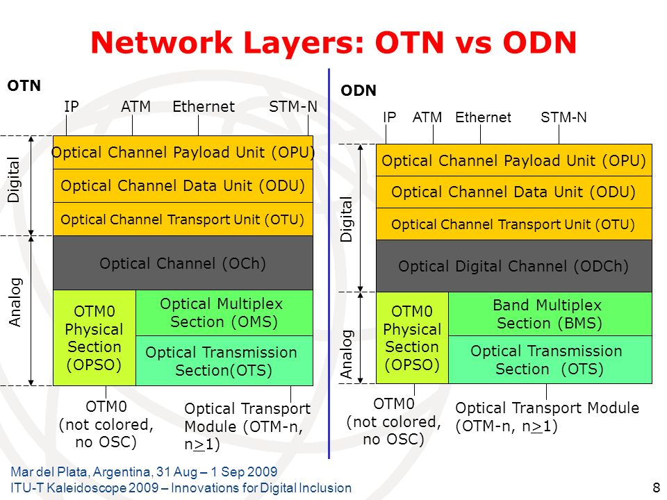 Network Layers: OTN vs ODN