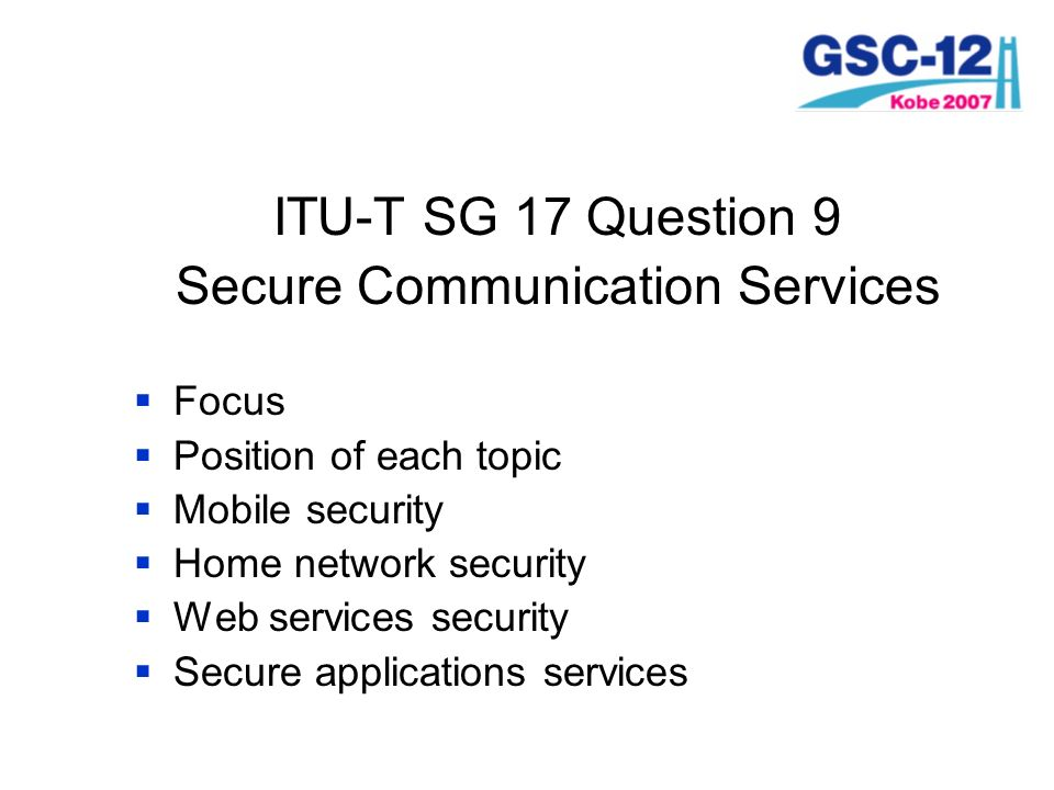 Secure Communication Services
