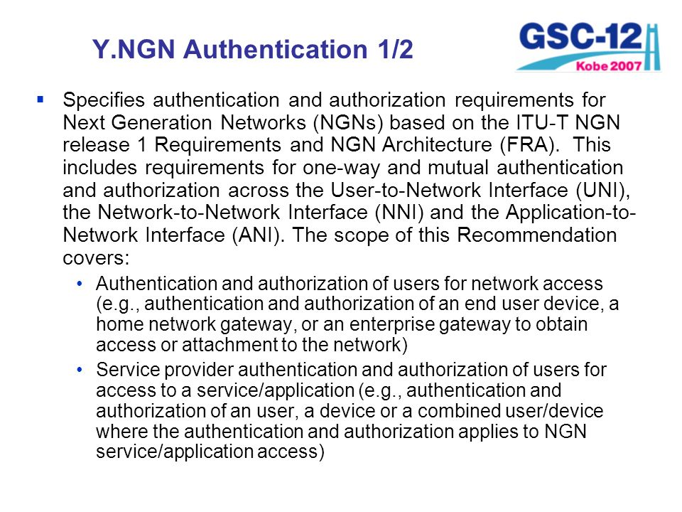Y.NGN Authentication 1/2