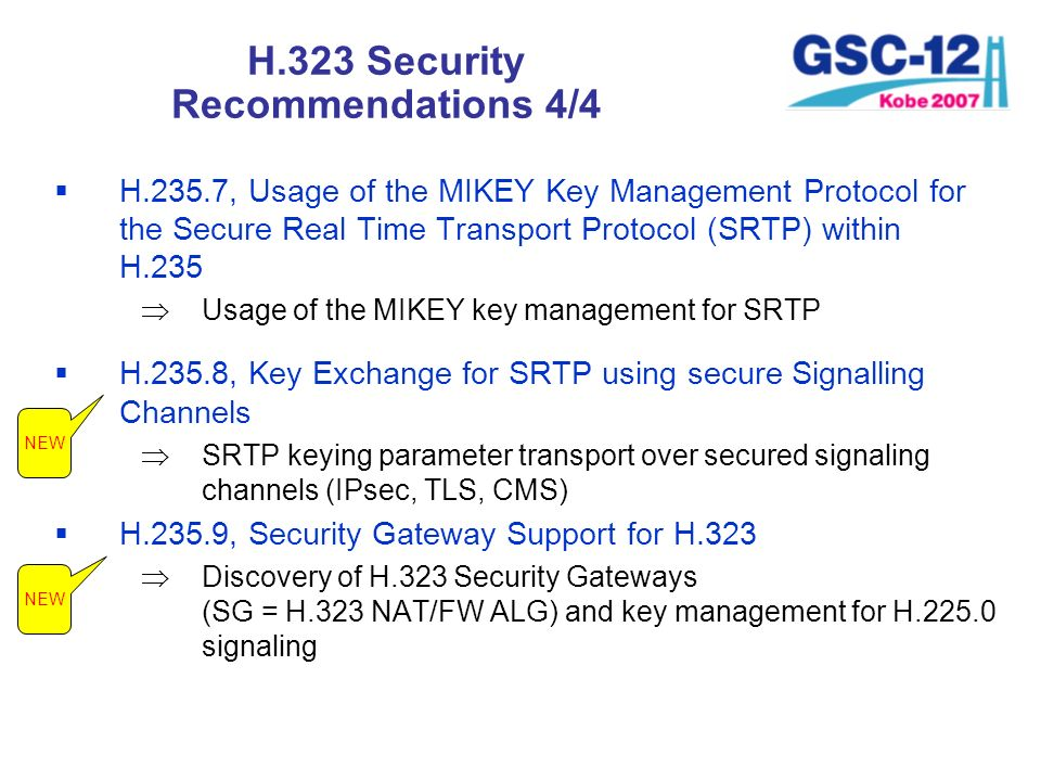 H.323 Security Recommendations 4/4