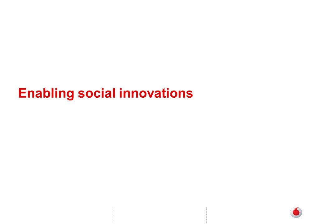 Enabling social innovations