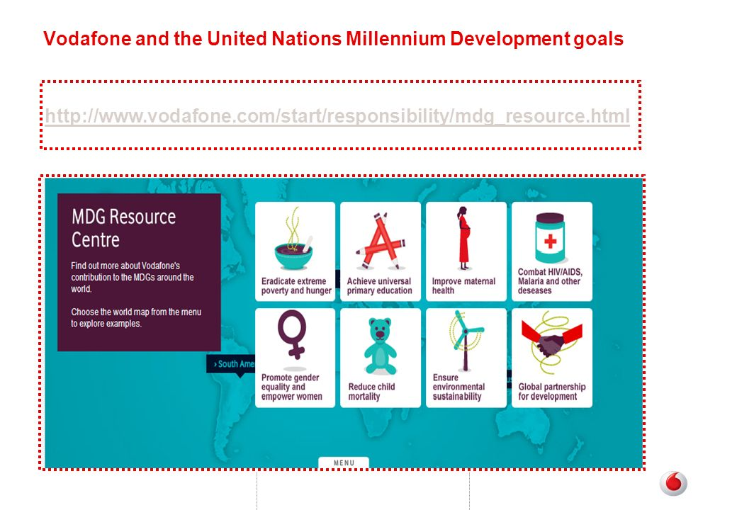 Vodafone and the United Nations Millennium Development goals