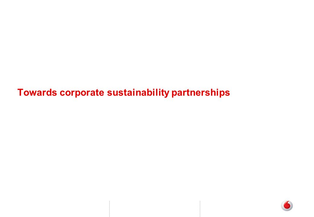 Towards corporate sustainability partnerships