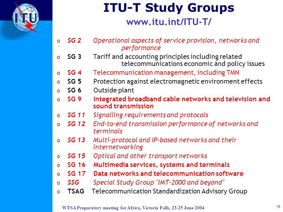 ITU-T Study Groups www.itu.int/ITU-T/