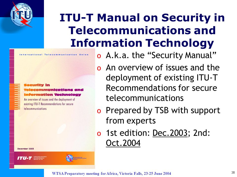 ITU-T Manual on Security in Telecommunications and Information Technology