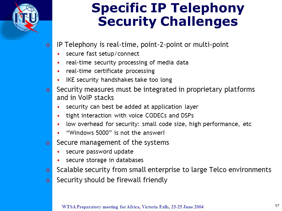 Specific IP Telephony Security Challenges