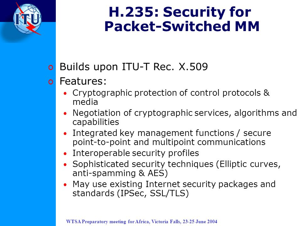 H.235: Security for Packet-Switched MM
