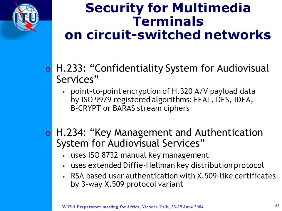 Security for Multimedia Terminals on circuit-switched networks