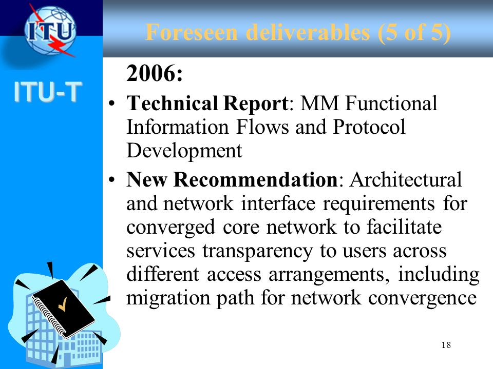 Foreseen deliverables (5 of 5)