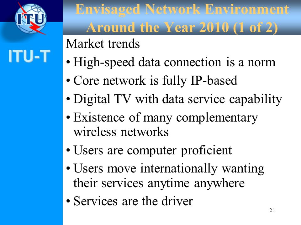 Envisaged Network Environment Around the Year 2010 (1 of 2)