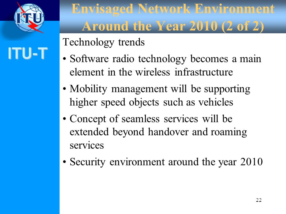 Envisaged Network Environment Around the Year 2010 (2 of 2)