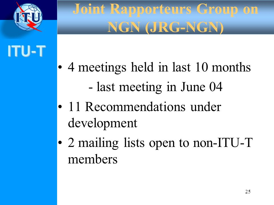Joint Rapporteurs Group on NGN (JRG-NGN)