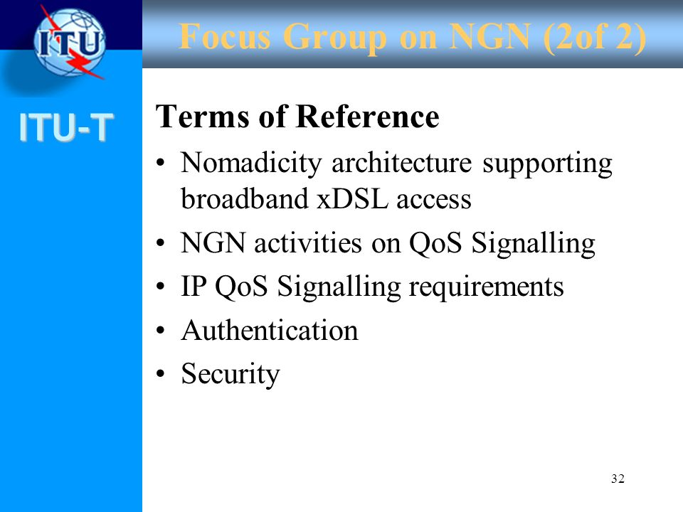 Focus Group on NGN (2of 2) Terms of Reference
