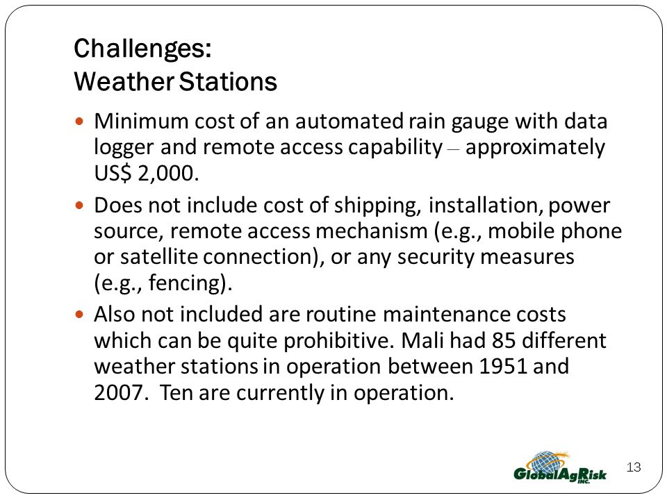 Challenges: Weather Stations