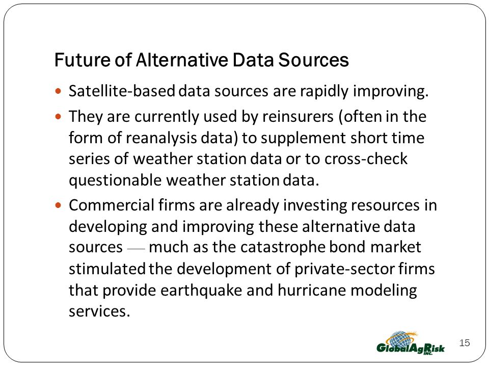 Future of Alternative Data Sources