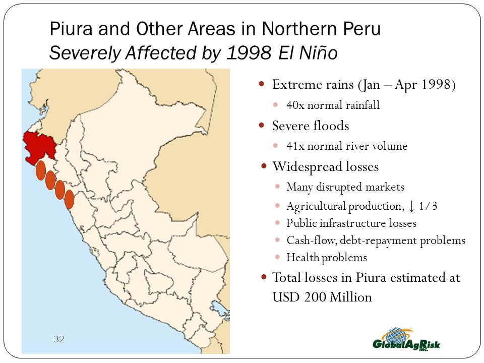Piura and Other Areas in Northern Peru Severely Affected by 1998 El Niño