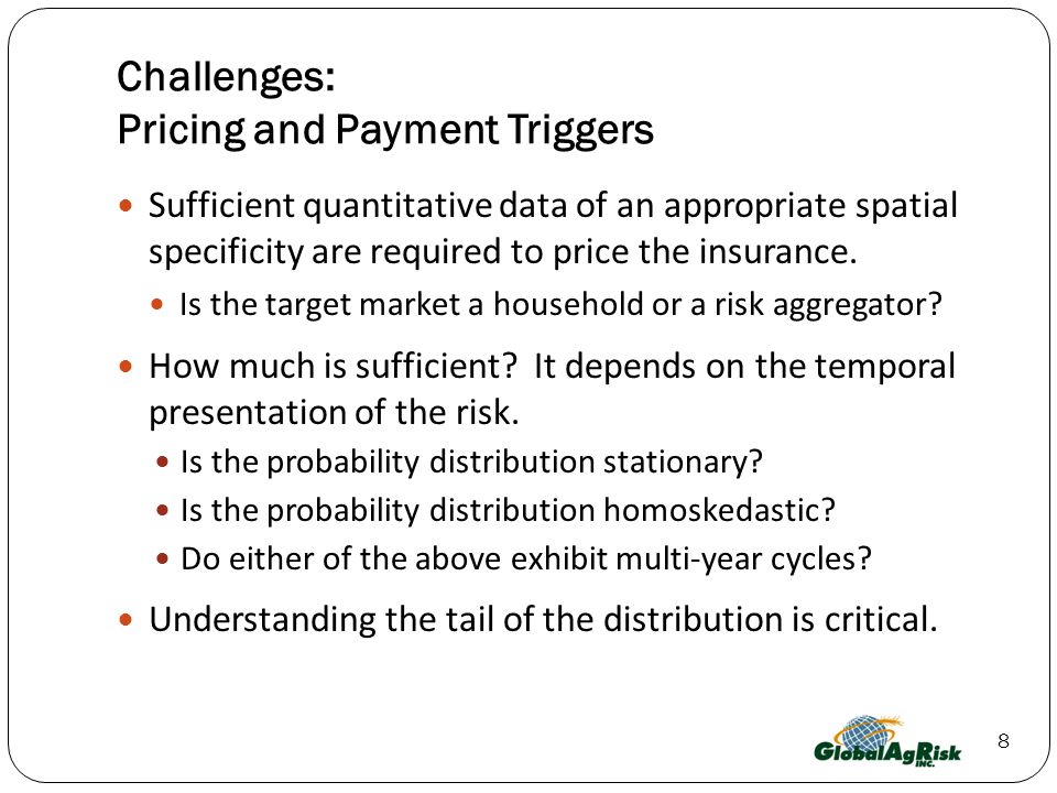 Challenges: Pricing and Payment Triggers