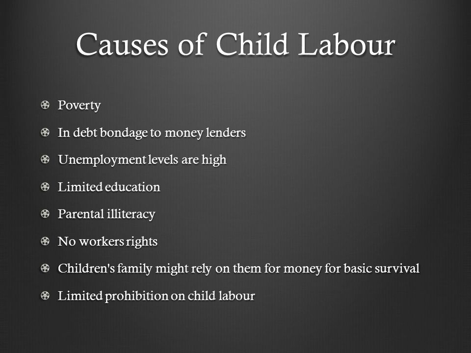 Child labor in relation to poverty