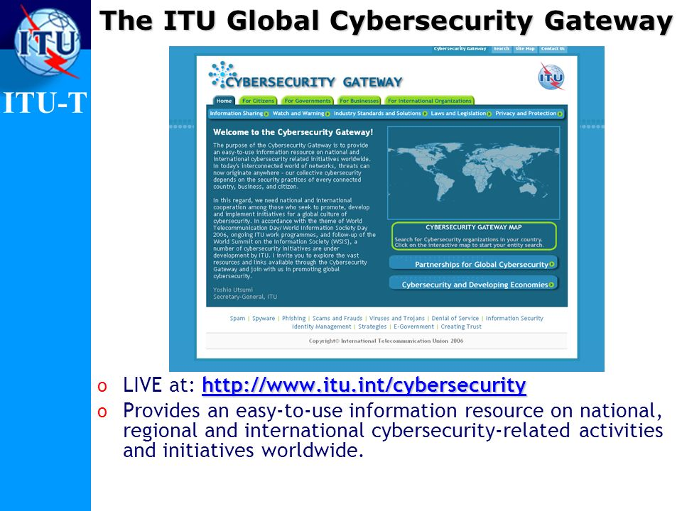 The ITU Global Cybersecurity Gateway