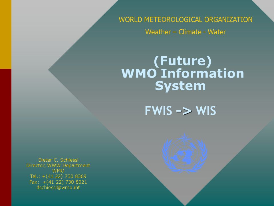 (Future) WMO Information System FWIS -> WIS