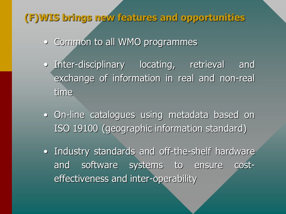(F)WIS brings new features and opportunities