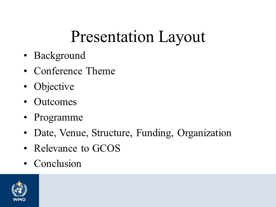 Presentation Layout Background Conference Theme Objective Outcomes