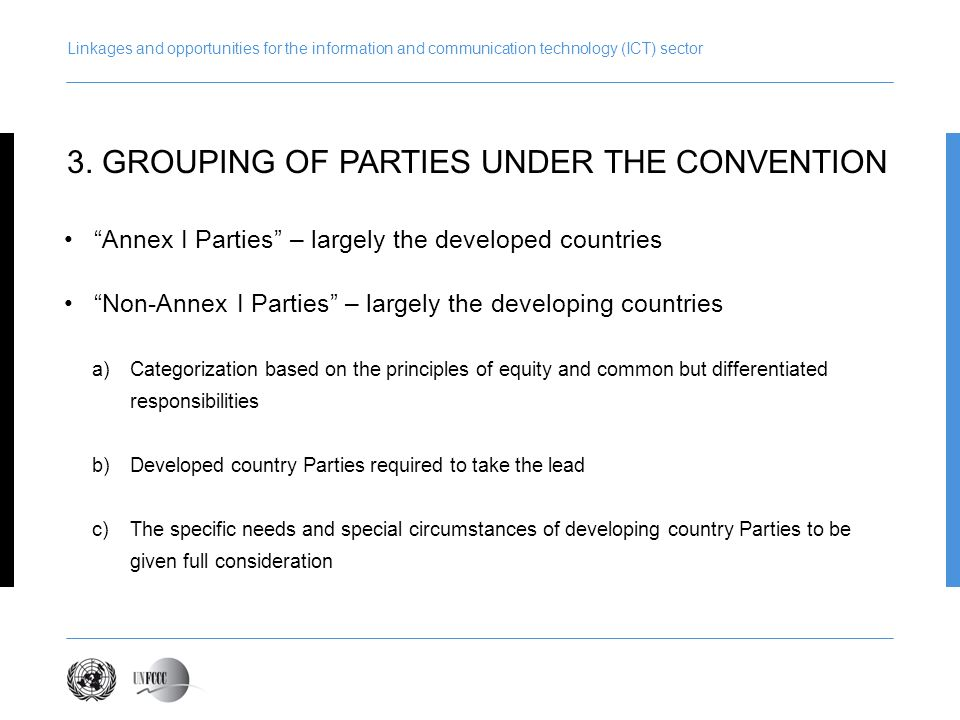 3. GROUPING OF PARTIES UNDER THE CONVENTION