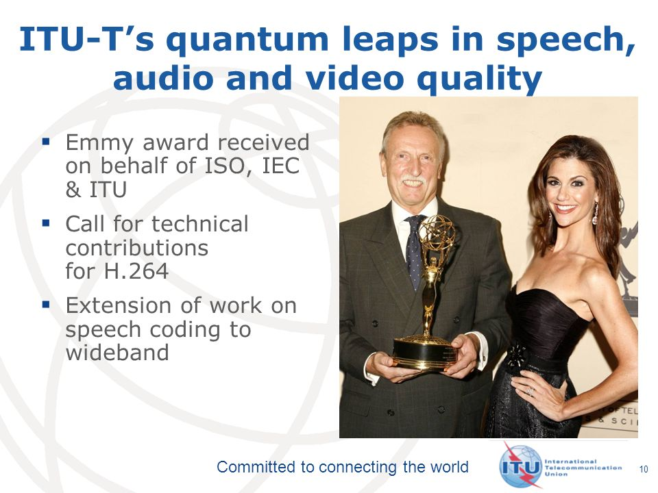 ITU-T's quantum leaps in speech, audio and video quality