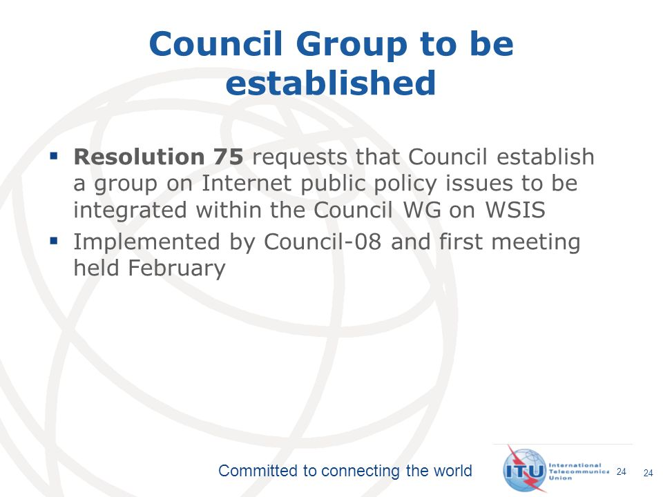 Council Group to be established