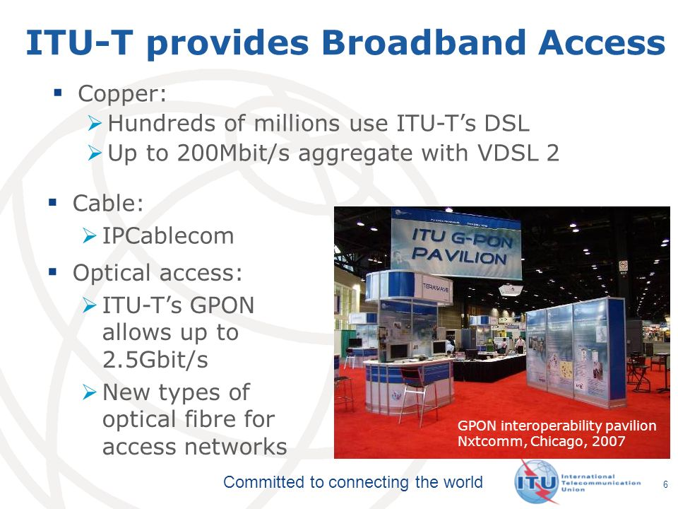 ITU-T provides Broadband Access