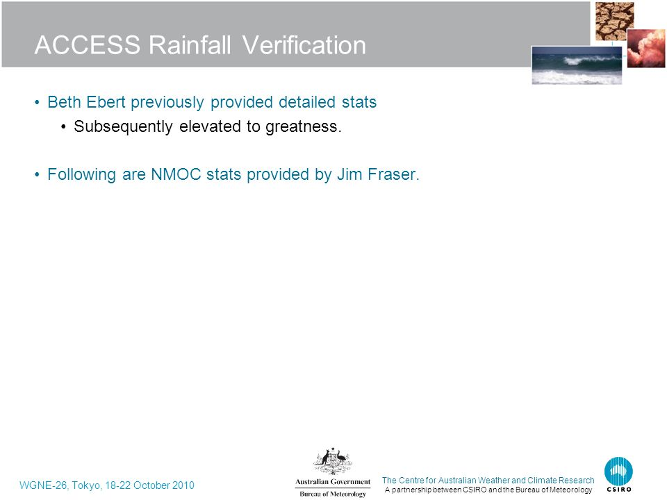 ACCESS Rainfall Verification