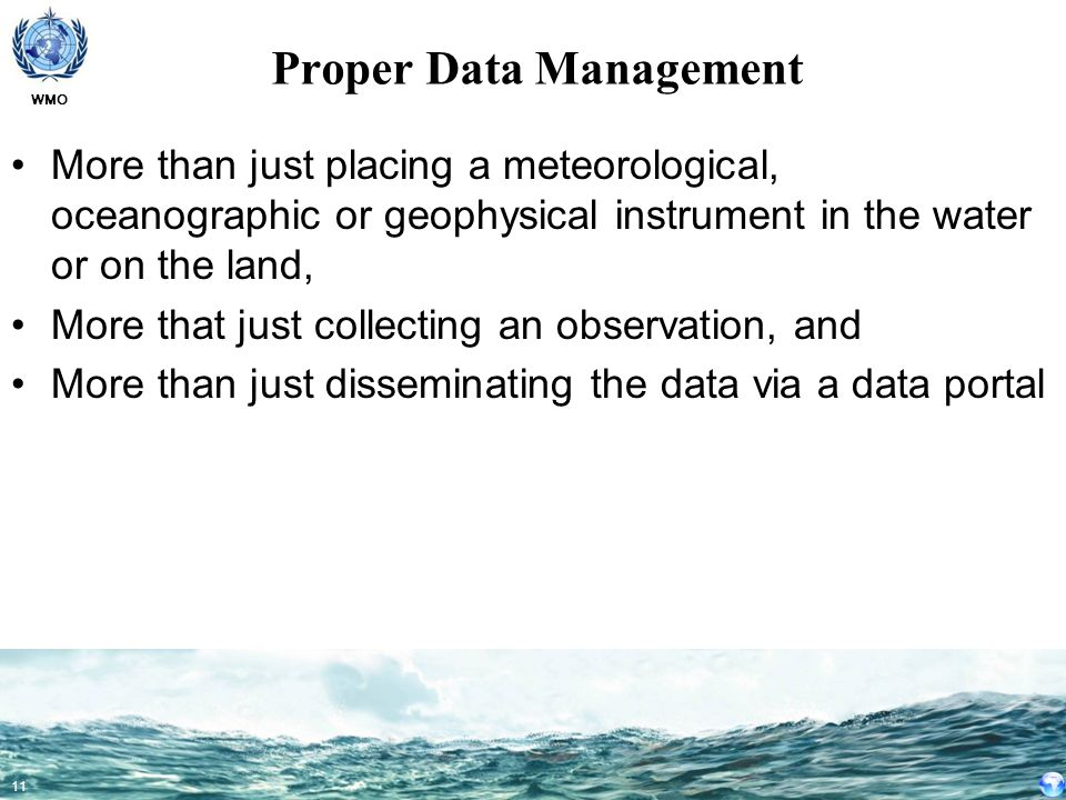 Proper Data Management