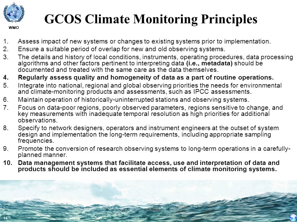 GCOS Climate Monitoring Principles