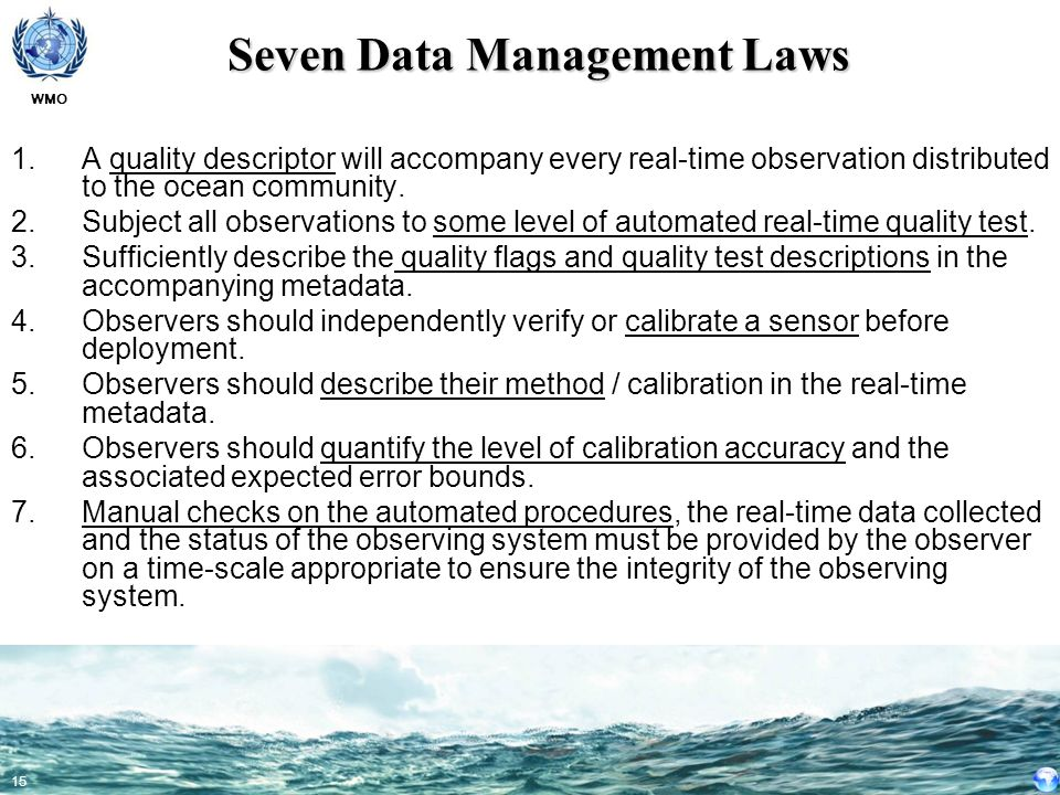 Seven Data Management Laws