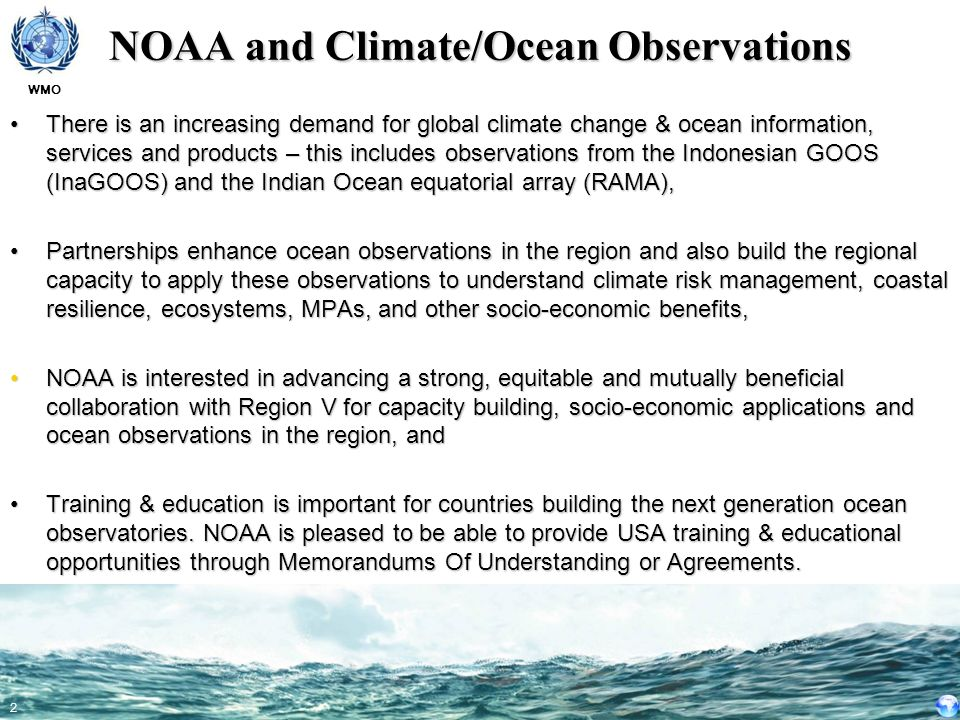 NOAA and Climate/Ocean Observations