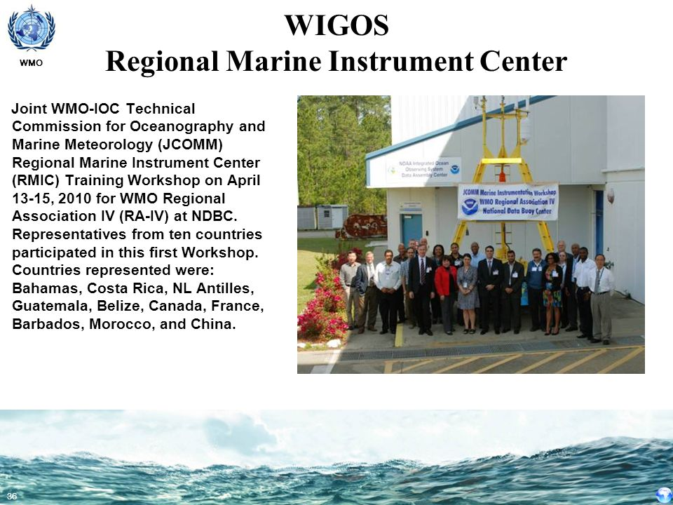 WIGOS Regional Marine Instrument Center