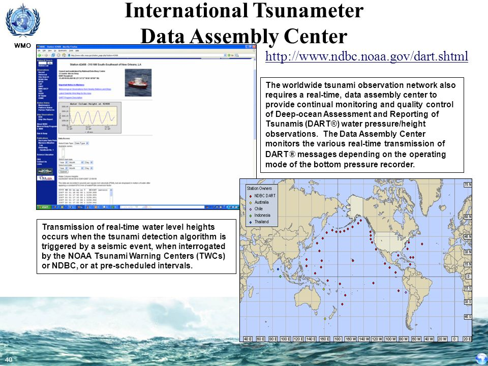 International Tsunameter Data Assembly Center