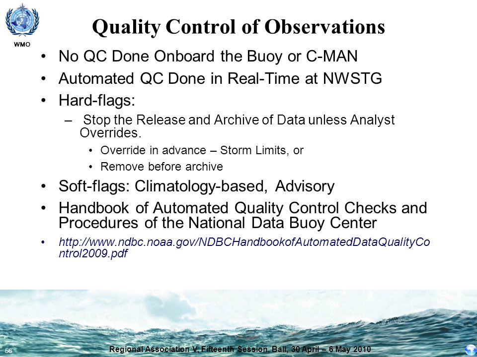 Quality Control of Observations
