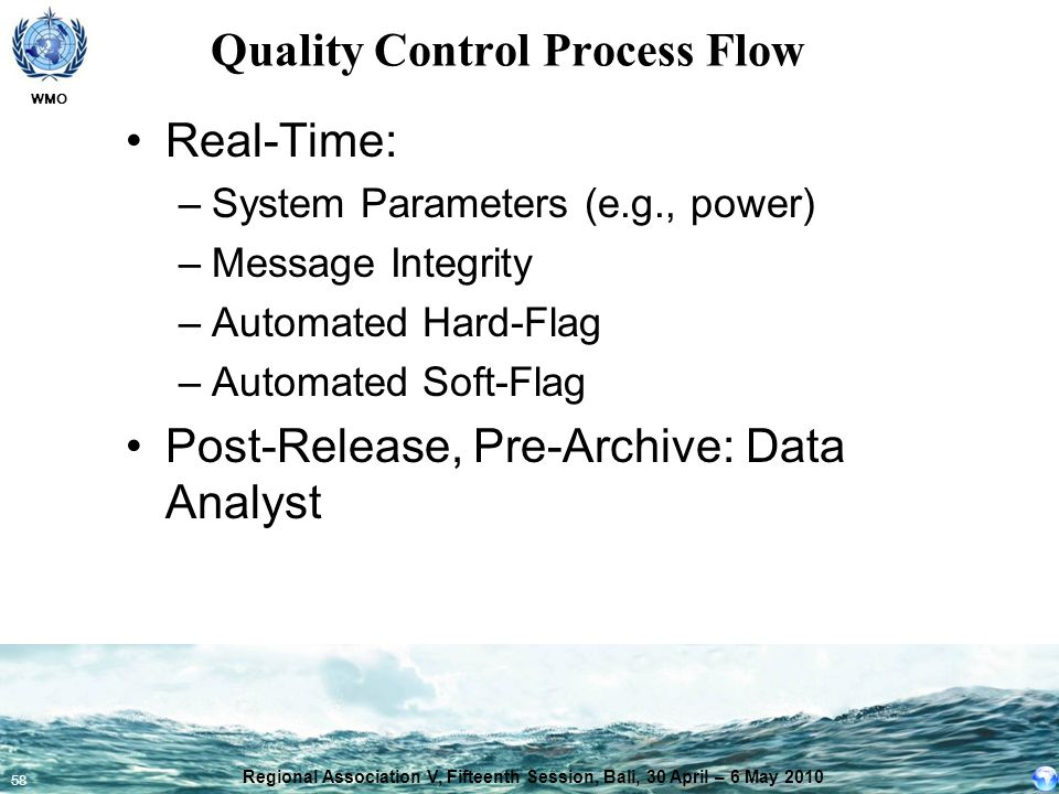 Quality Control Process Flow