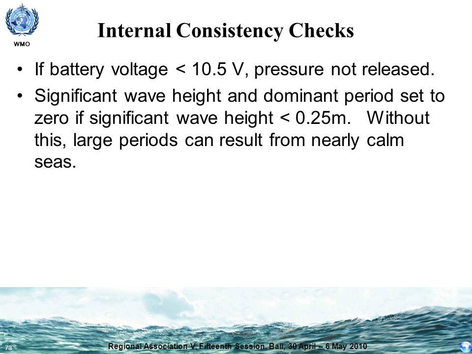 Internal Consistency Checks
