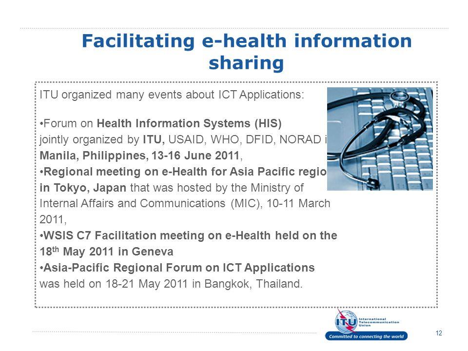 Facilitating e-health information sharing