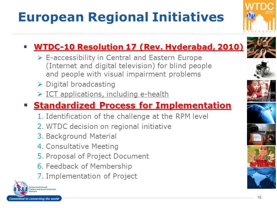 European Regional Initiatives